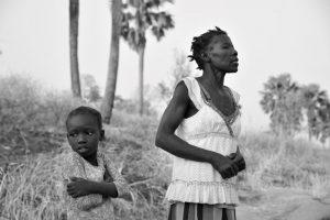Frau und Kind in Uganda